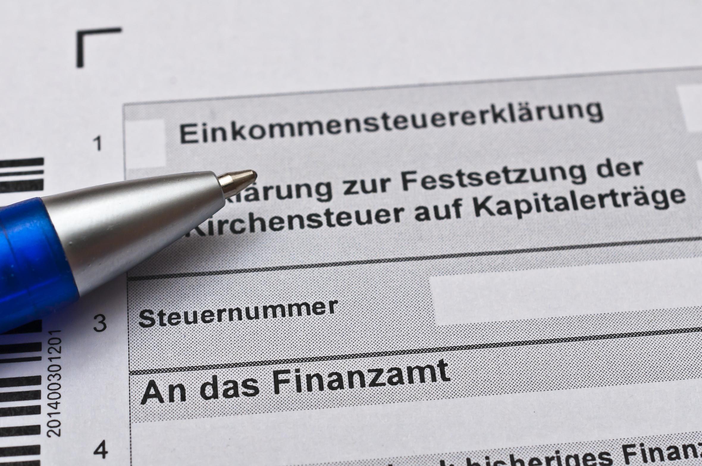 Finanzamt Steuererklrung ausfllen